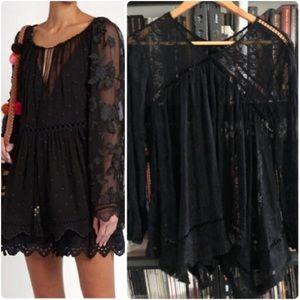 Zimmermann Silk & Embroidered Tunic Blouse